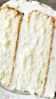 Almond Cream Cake ~ Light, moist and velvety, this cake has a homemade cooked, whipped frosting that pairs perfectly with the almond cake.
