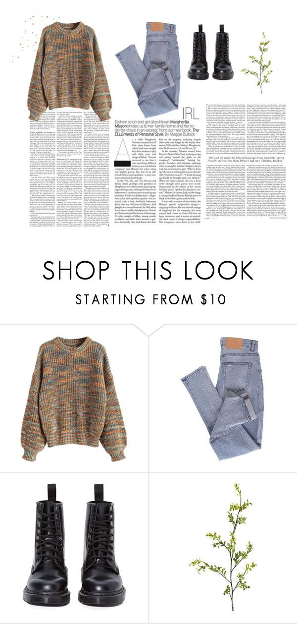 """Oversized Sweater Vibes"" by charlotte-sophie-lensen on Polyvore featuring Cheap Monday, Dr. Martens and Pier 1 Imports"
