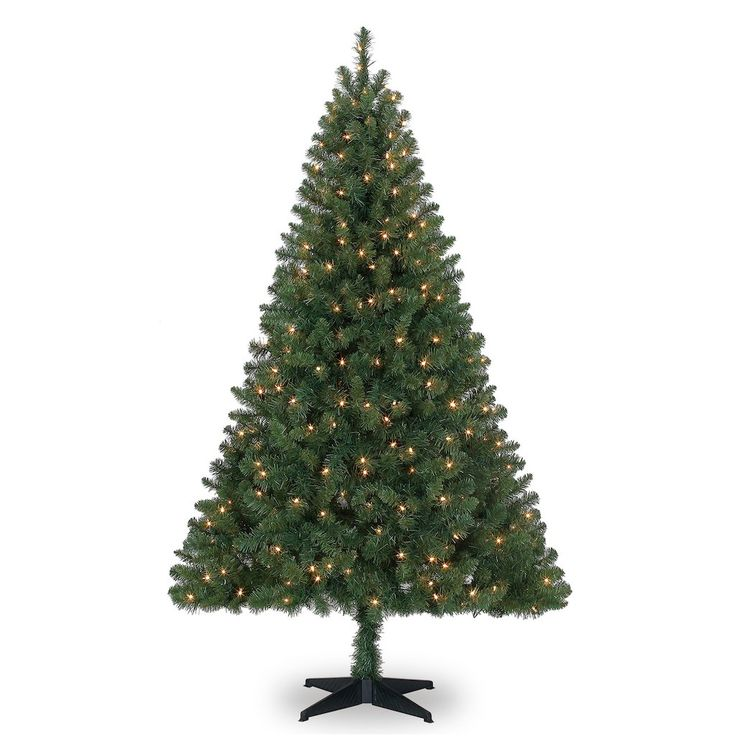 Santa will have the perfect spot to deliver presents under the verdant boughs of the 6 foot Windham Spruce Tree. This exquisite artificial Christmas tree features a lush profile, 664 easy-to-shape branch tips, and 300 clear lights.
