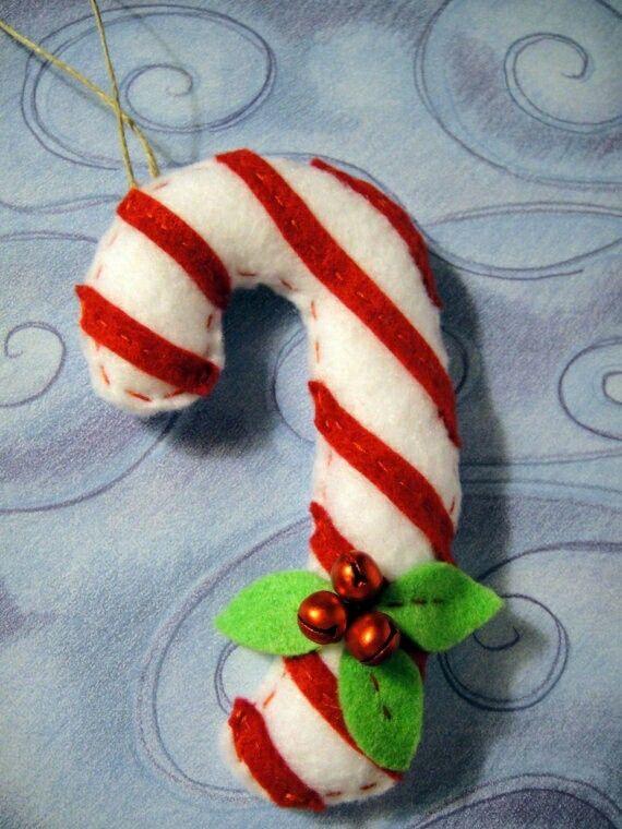 Handmade Felt Christmas Candy Cane