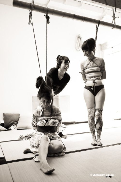amaury-grisel-shibari: workshop with Kasumi Hourai at la...