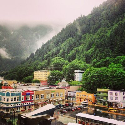 Juneau Alaska. I love how they slways paint houses so colourfull in cold places