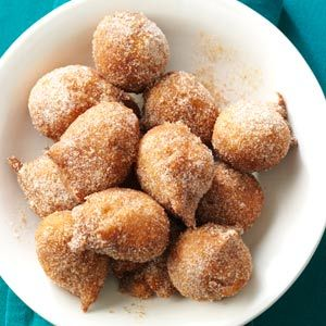 Banana Beignet Bites Recipe from Taste of Home -- shared by Amy Downing of South Riding, Virginia