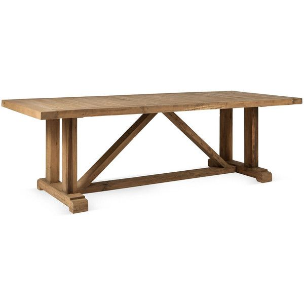 8 ft reclaimed solid wood trestle style dining table for Solidworks design table zoom