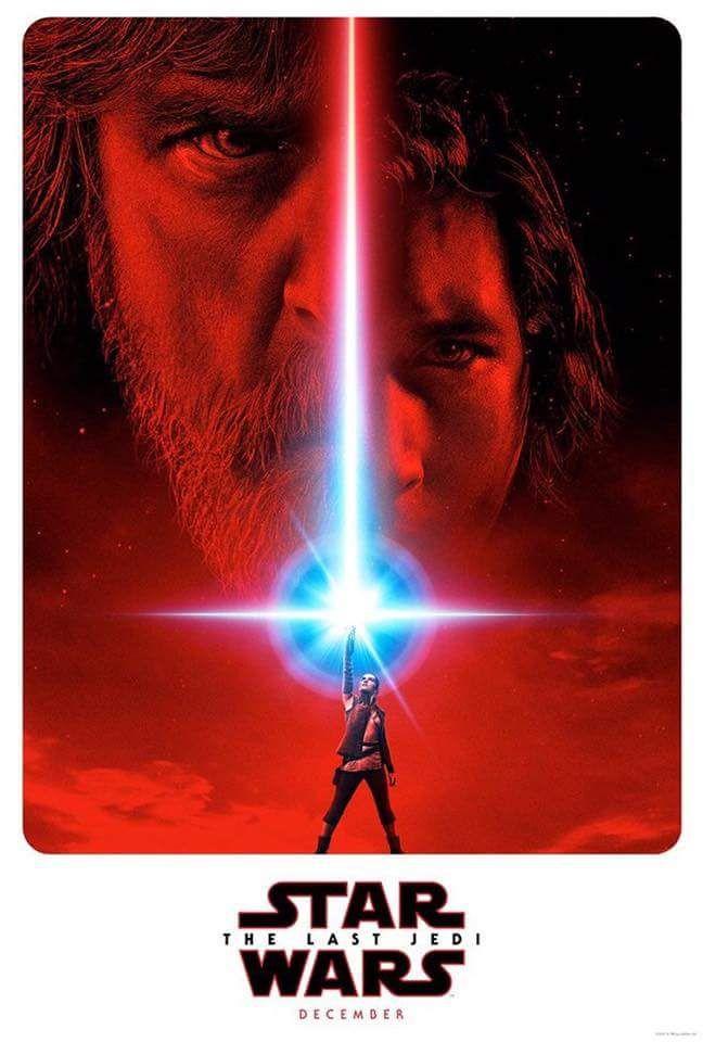 Star Wars ep 8 The Last Jedi poster.