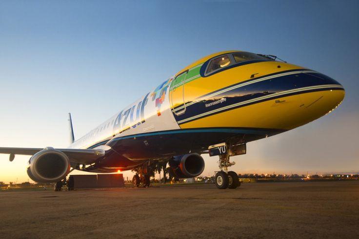 Embraer E195 #sempresenna (Gianfranco Beting/Azul)