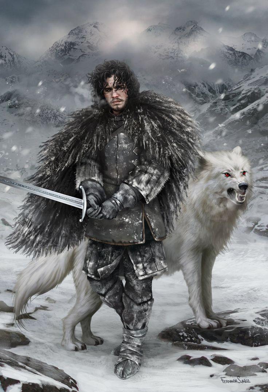 Jon Snow, Fernanda Suarez on ArtStation at http://www.artstation.com/artwork/jon-snow-38aed822-42ee-4234-a7e3-8032e83b14b8
