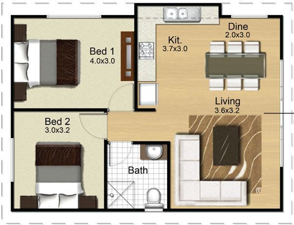 Converting A Double Garage Into A Granny Flat Google Search Small House Plans Tiny House Plans Bedroom House Plans