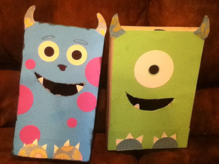 Disney Valentines Day Boxes ! (: Mike and Sully