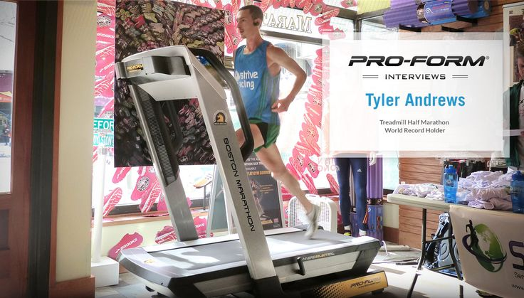Tyler Andrews recently broke the half marathon world record on the Boston Marathon Treadmill at Marathon Sports in Boston.  We sat down and spoke with Tyler about his experience and what it is like to beat the ultimate PR. Click this link for the full interview: http://blog.proform.com/?p=1584