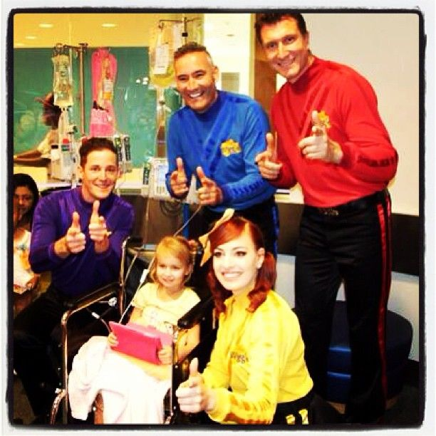 Special thanks to The Wiggles for visiting and entertaining our patients. They had tons of wiggly fun!