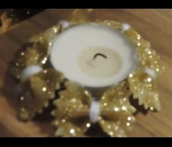 Idée à adapter pour faire un cercle de déco avec des pâtes décorées de peinture ou vernis à ongles ou vernis colle/paillettes - tutoriel en vidéo