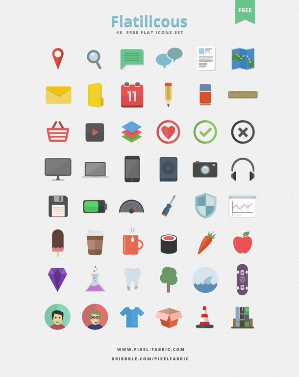 48 Free Flat Icons - PSD Icons
