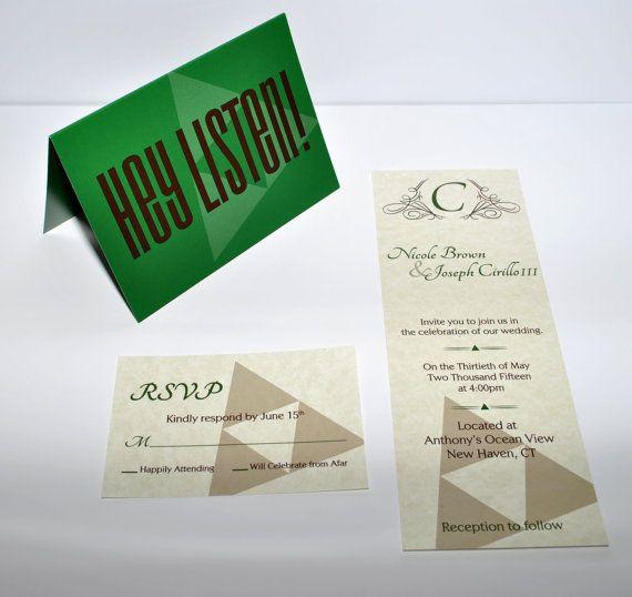 Invitation: Legend of Zelda Inspired Wedding