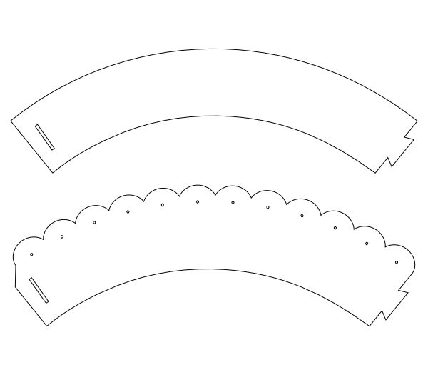 I have had some requests for printable versions of my cupcake wrappers for those without electronic cutters. Here is a plain cupcake wrapper and a scalloped wrapper template. Set the height of t...
