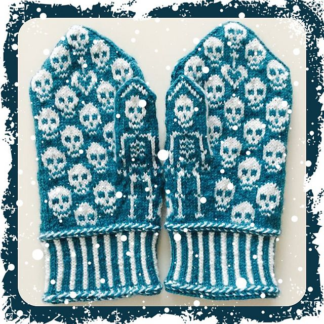 Ravelry: Calaveras mittens pattern by JennyPenny More