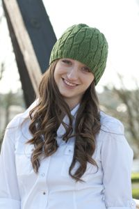 free #knitting pattern for a cable beanie hat Cascade Yarns