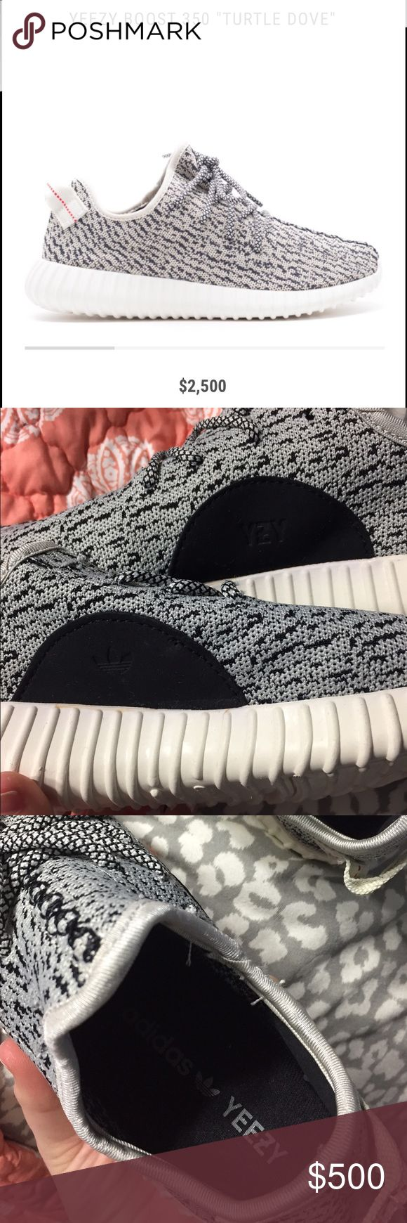 Authentic Yeezy Boost 350. I got these for Christmas. I've been dying to get a pair but I need to go one size bigger. My dad didn't realize my shoe size. They have never been worn. They are a size 7 1/2 and I wear an 8-8 1/5 normally so I just need to go one size bigger. I didn't pay for them so I can't ask for the original price. My dad payed a little over $1,000 for them. They are 100% authentic. Willing to lower price. Make offer. 😊 Yeezy Shoes Sneakers