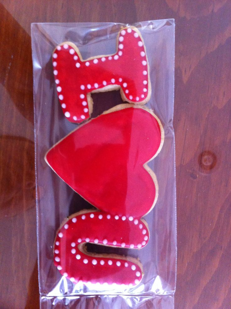 Galleta decorada de san Valentín cookies saint valentine's  icing glass 14 february, 14 de febrero i love u