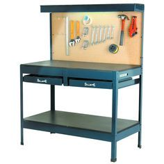 Garage Workbench w/ Lighting and Outlets Harbor Freight