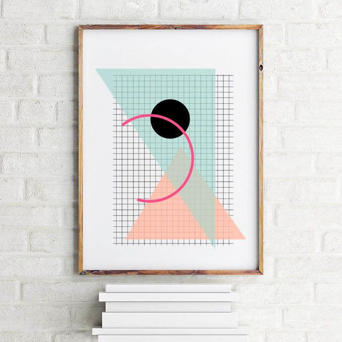 A personal favorite from my Etsy shop https://www.etsy.com/listing/244692398/geometric-art-print-poster-grid-and