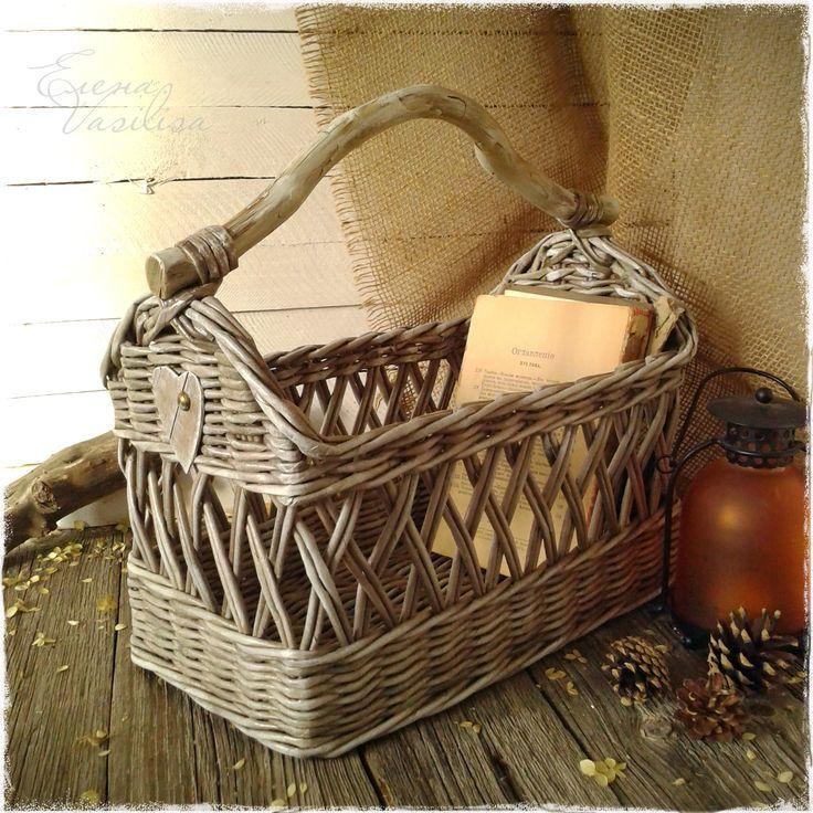 weaving of paper. vintage basket