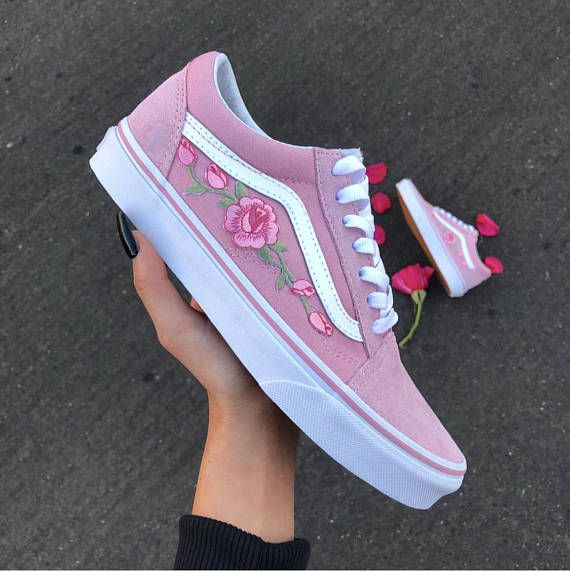 vans donna con rose scarpe