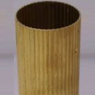 Reeded Curtain Rods | Brass Drapery Pole | Wall Hanging Rod | SignatureThings.com