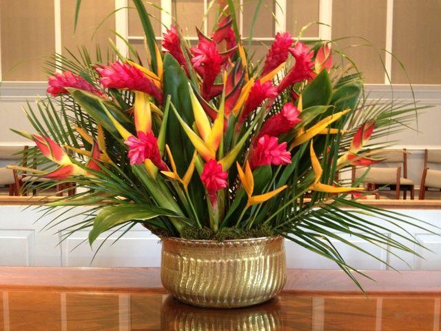 pentecost flower arrangements | Pentecost arrangement by the WPC Flower Guild