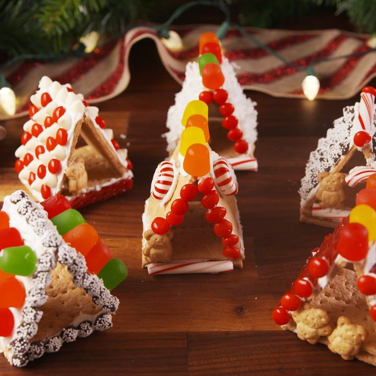Get ready for the sweetest little houses. #food #holiday #christmas #pastryporn #kids #easyrecipe #recipe #inspiration #diy #ideas