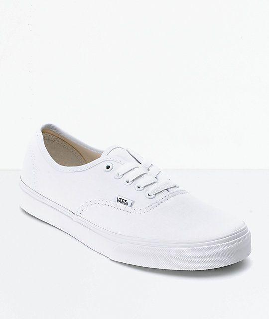 Vans Authentic White Skate Shoes   Furgonetas auténticas