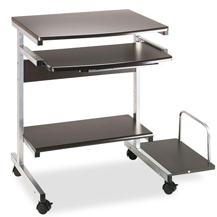 Mayline Portrait PC Desk Cart Mobile Workstation 36-1/2-inch wide x 19-1/4-inch deep x 31h