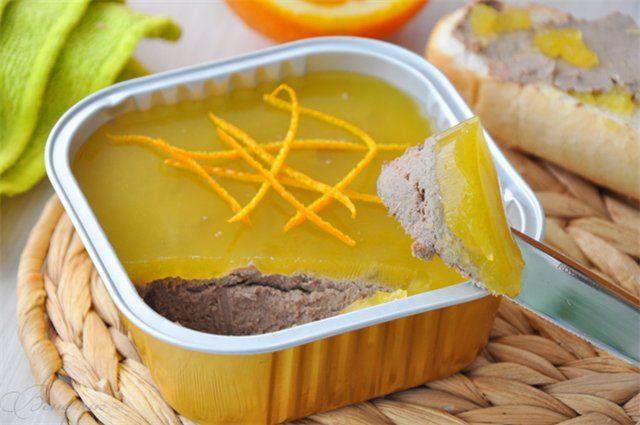 pate de ficat de pui cu jeleu de portocale. - pauză Delicious