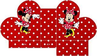 Minnie Vermelha - Kit Completo de molduras para convites, rótulos de guloseimas, lembrancinhas e imagens - Fazendo a Minha Festa