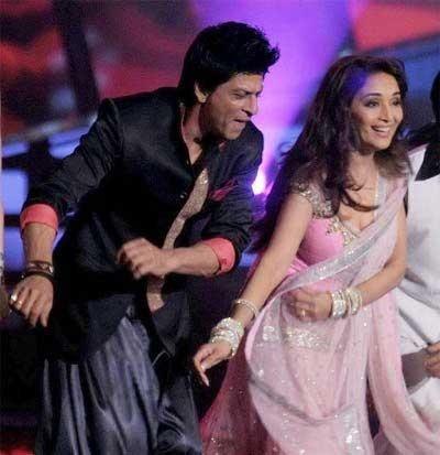 Shah Rukh Khan and Madhuri Dixit. I like their chemistry.
