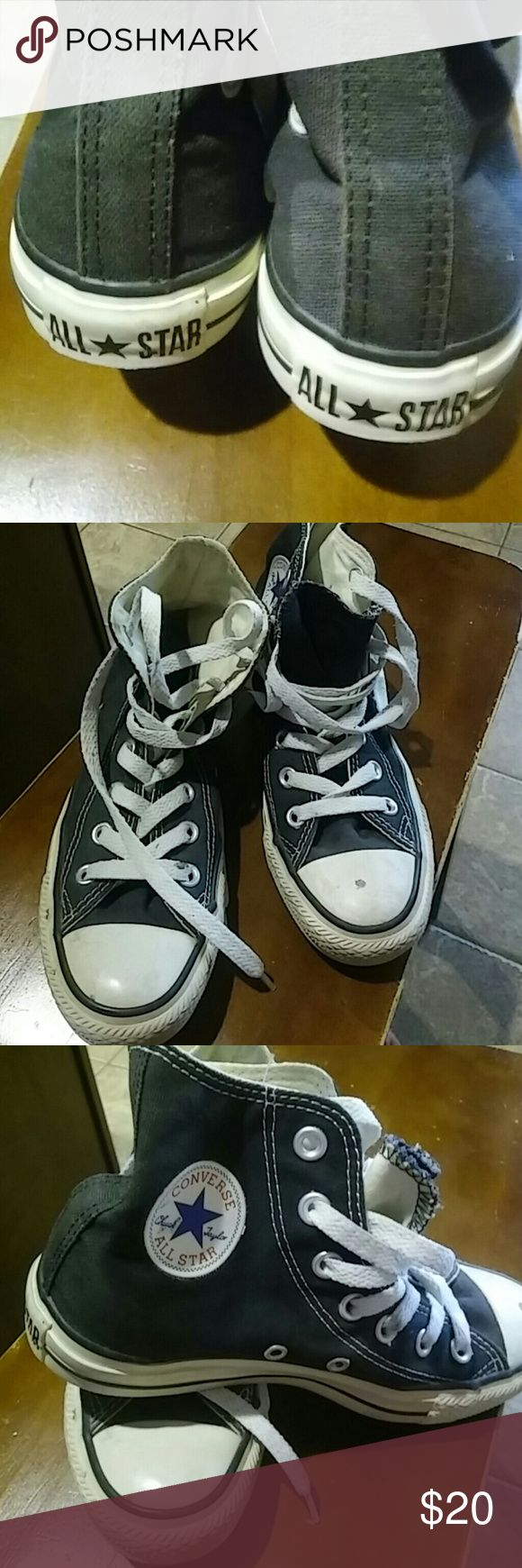 Converse All ?? Star Chuck Taylor All Star  Black. In good condition. White parts can be easily cleaned up. Original before sold to Nike company. Converse Shoes Sneakers