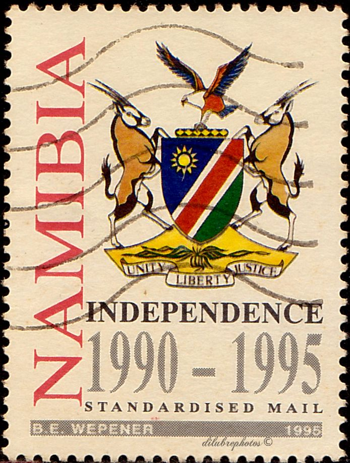 Namibia.  Independence, 5th anniv., Scott 778 A163, Issued 1995 Mar. 21, Litho.,35c. /ldb.