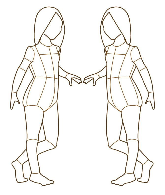 Children Fashion Croquis Templates Figure Jobspapacom | F ...