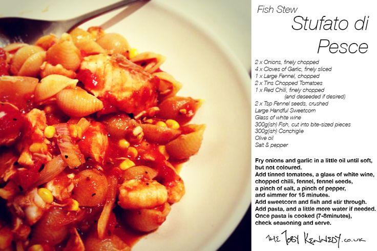 #theTKrecipecard: Stufato di Pesce (Fish Stew). x