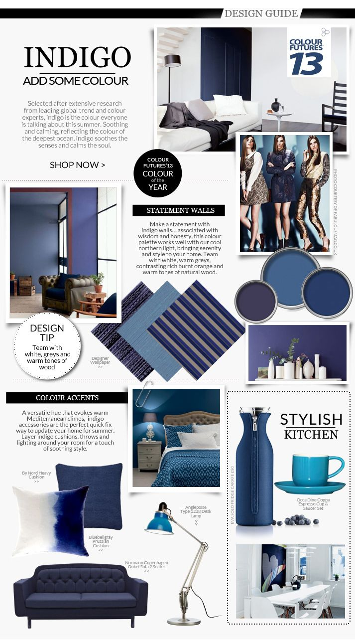 Designers Tips On Using Indigo Colour Futures Of The Year In Your