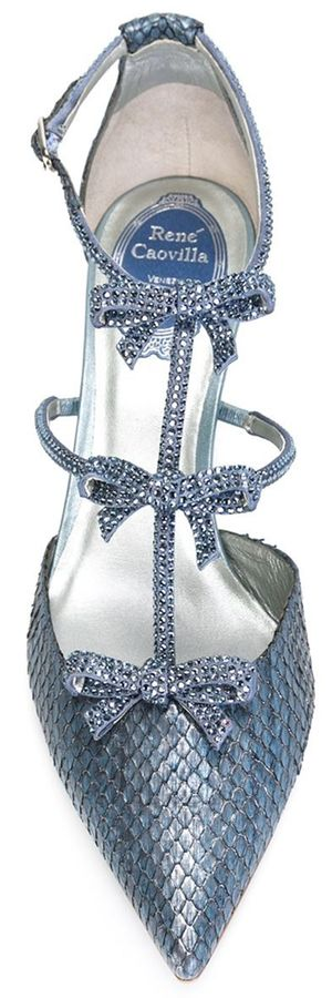 RENE CAOVILLA Embellished Bow Detail Pumps | House of Beccaria~