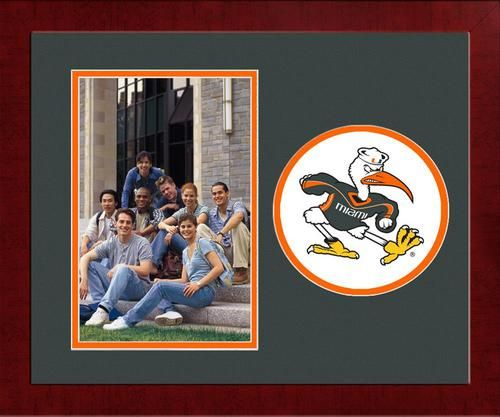 University of Miami Hurricanes Picture Frame Vertical 4x6 Photo Frame