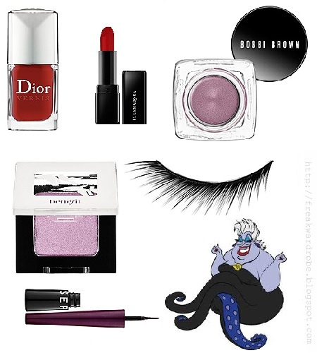 Ursula (The little mermaid by Disney) inspired make up - Love love love <3