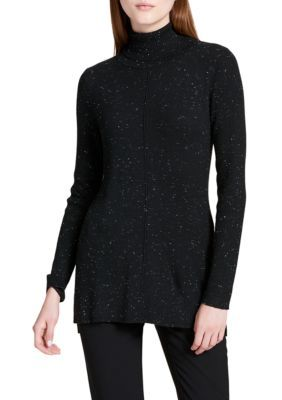 Calvin Klein Women's Sweater With Fleck Detail - Black - Xs
