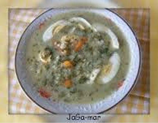 zupa szczawiowa_ Typowo wiosenna zupa, i w końcu doczekałam się tego, że mogę ugotować sobie moją ulubioną zupkę. A lubię ją właśnie tylko ugotowaną ze świeżego