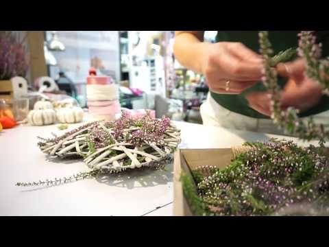 DIY: Deko-Herz mit Heidekraut, toll für den Herbst! Gartencenter Mencke - YouTube