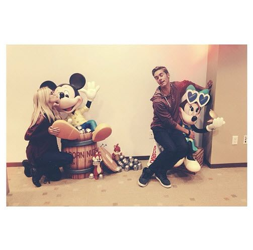 Dis411 Photo: Olivia Holt And Austin North Showing Some Love To Mickey And Minnie Mouse October 13, 2013
