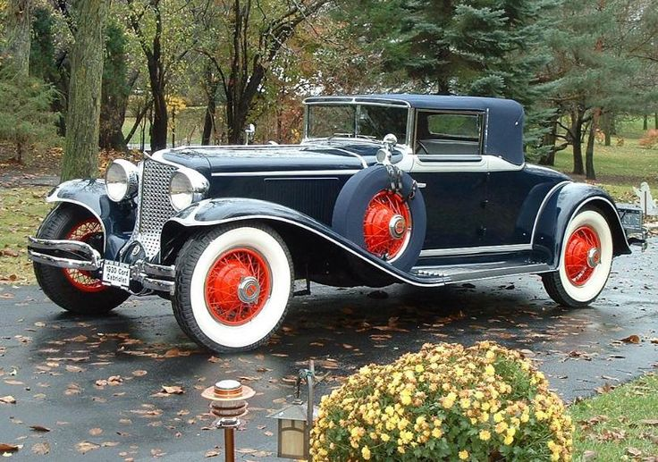Made in Connersville, Indiana 1930 Cord - Model L-29 2 Door Convertible Phaeton - (Auburn Automobile Company, Connersville, Indiana 1929-1937)