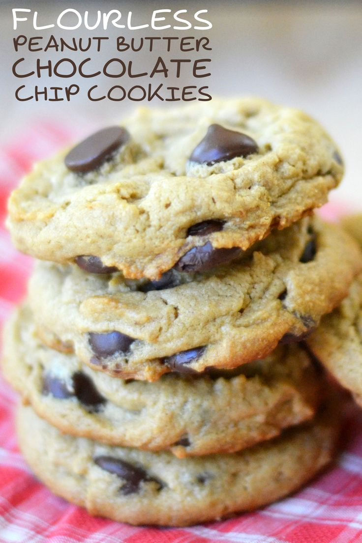 No flour, no butter --- these moist chewy chocolate chip cookies are actually healthy!