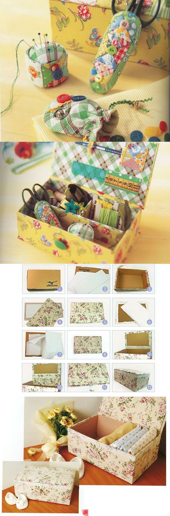 Pretty up that Shoe box~I like this idea because I am a memorabilia fanatic.  I save everything that means something to me and I like them in pretty boxes